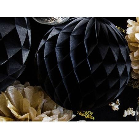 Balle en nid d'abeille noir 10cm