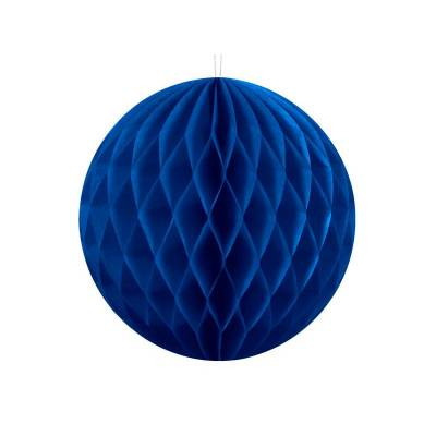 Balle en nid d'abeille bleu marine 10cm