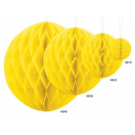 Balle en nid d'abeille jaune 10cm