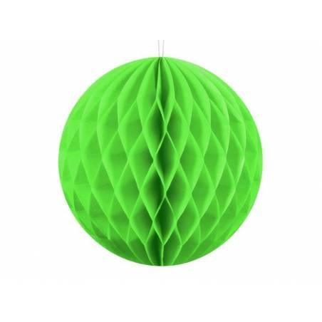Balle en nid d'abeille vert pomme 10cm
