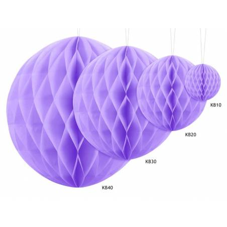 Balle en nid d'abeille lilas 20cm