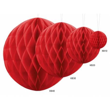 Balle en nid d'abeille rouge 20cm