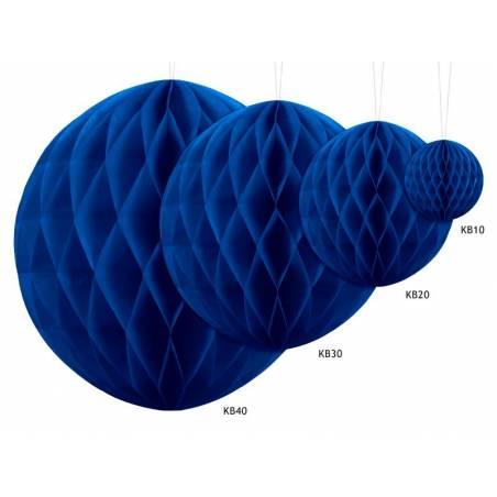 Balle en nid d'abeille bleu marine 20cm