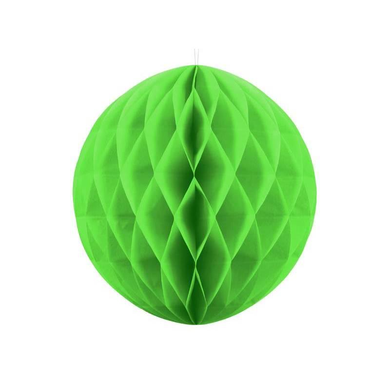 Balle en nid d'abeille vert pomme 20cm