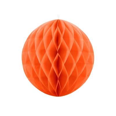 Balle en nid d'abeille orange 30cm