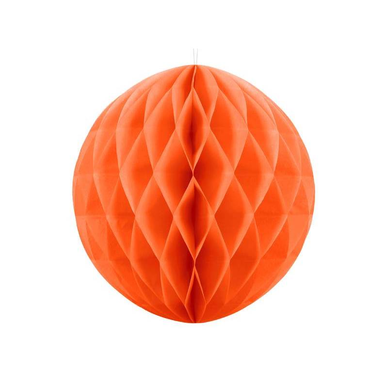 Balle en nid d'abeille orange 30cm