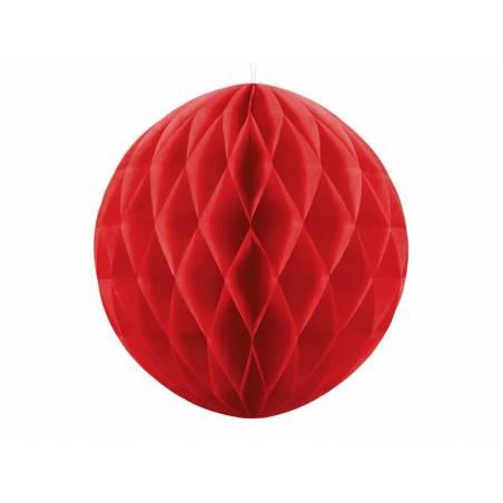 Balle en nid d'abeille rouge 30cm