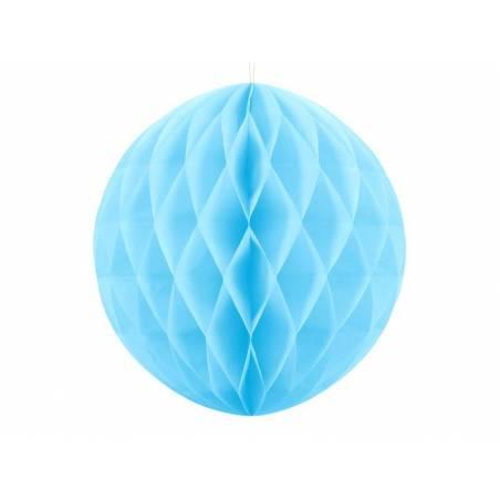 Balle en nid d'abeille bleu ciel 30cm