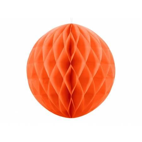 Balle en nid d'abeille orange 40cm