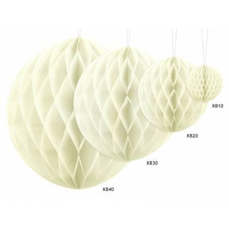 Balle en nid d'abeille crème légère 40cm