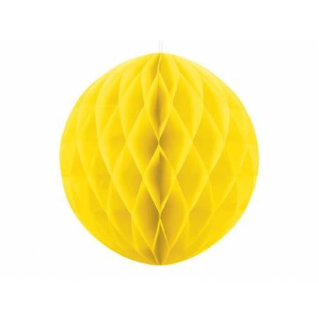 Balle en nid d'abeille jaune 40cm
