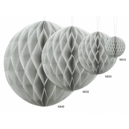 Balle en nid d'abeille gris clair 40cm