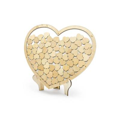 Livre d'or en bois - Coeur 44x37.5cm