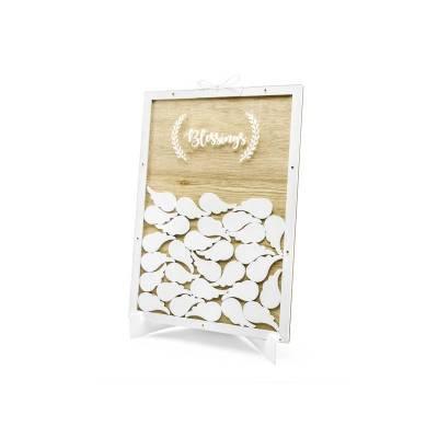 Livre d'or en bois - Blessings 27.5x39.5cm
