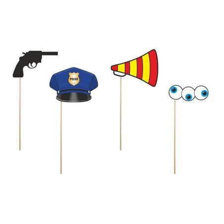 Accessoires d'un policier malade