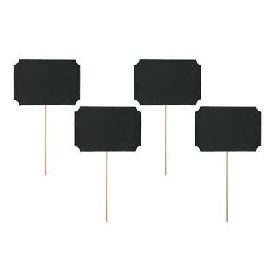 Cartes sur un bâton noir 11 x 8 cm