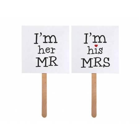 Cartes sur un bâton je suis son MRS / je suis son MR