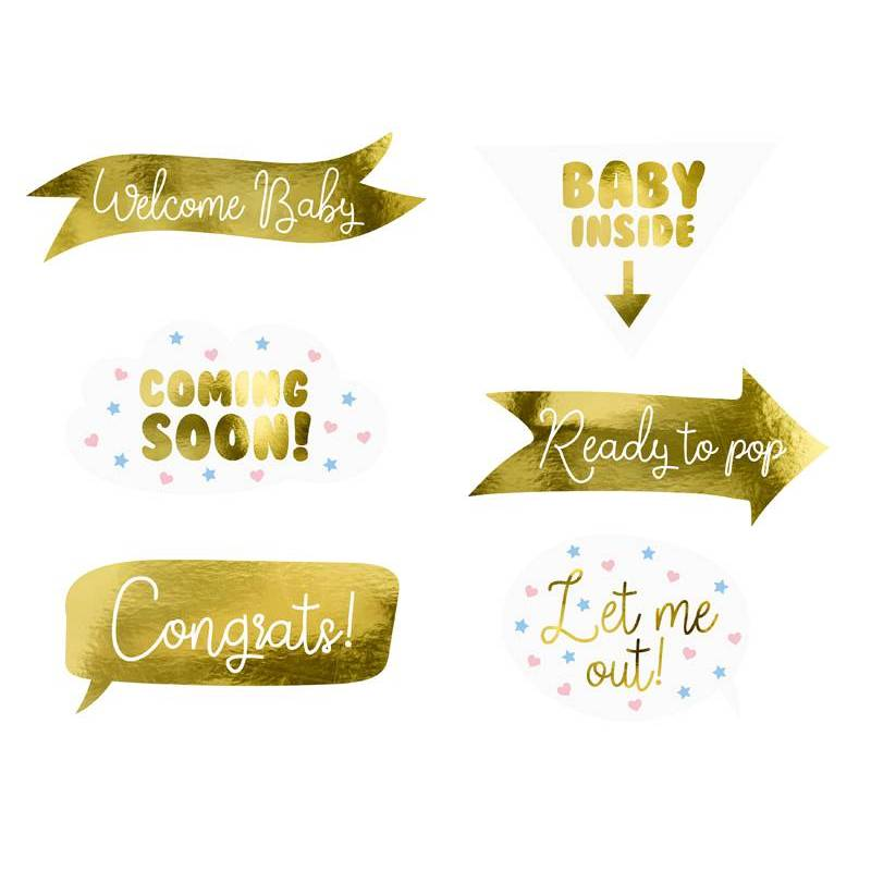 Accessoires photo Baby shower mix