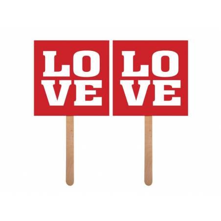 Cartes sur un bâton Love / Love
