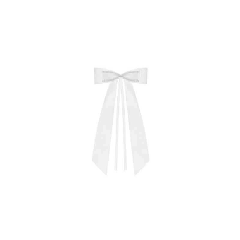 Noeuds papillon blanc 14cm