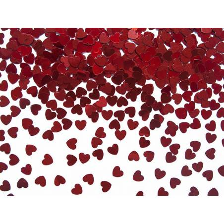 Confetti Hearts rouge 5mm 30g