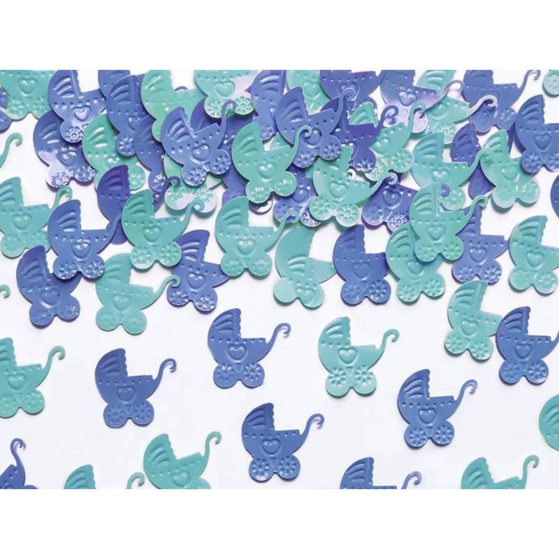 Landaus confettis bleu et bleu ciel 15g