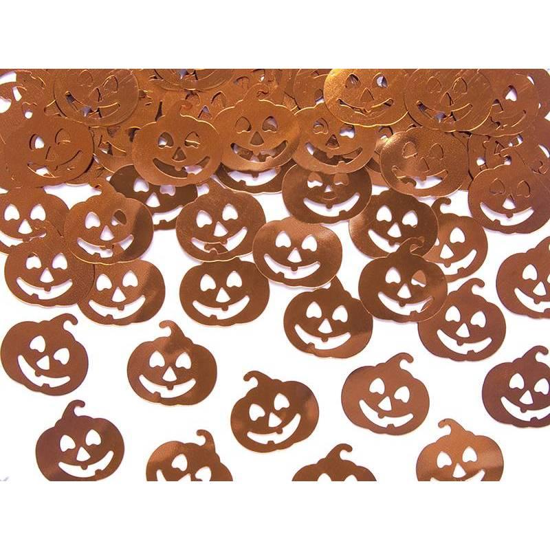 Confettis métalliques Citrouilles 2 x 2cm 15g