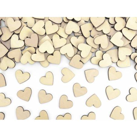Cœurs confetti en bois 2x2cm