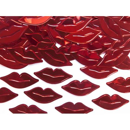 Confetti métallique Lèvres rouge 15g
