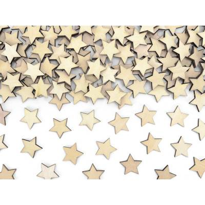 Confetti en bois Etoiles 2x2cm