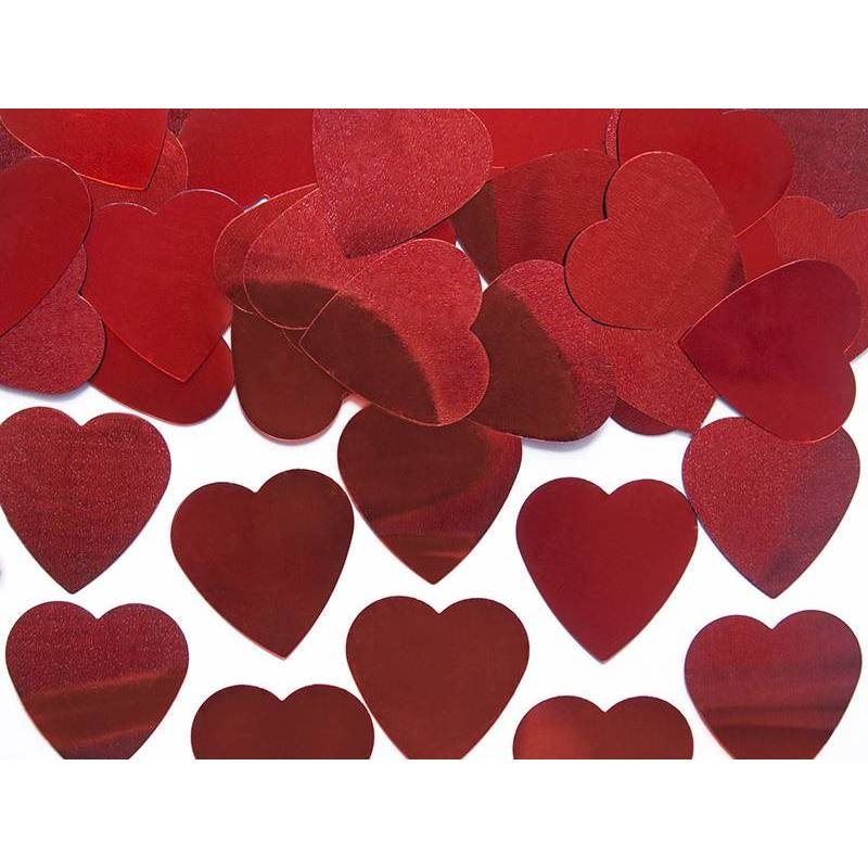 Confetti Hearts rouge 25mm 10g