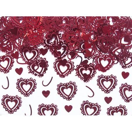Confetti Hearts rouge 15g