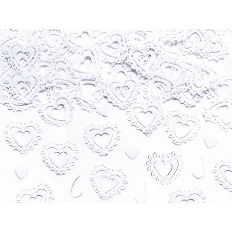 Confetti Hearts blanc 15g