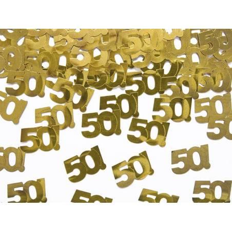 Confettis métalliques numéro 50 15g