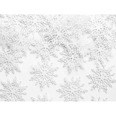 Flocons de neige confettis perle 31 x 36 cm