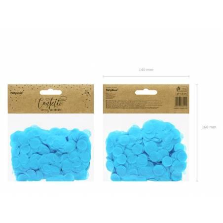 Cercles Confettis bleu 15g