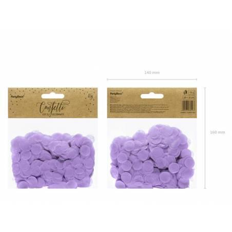 Cercles Confettis lilas 15g
