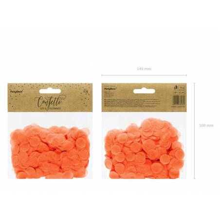 Cercles Confettis orange 15g