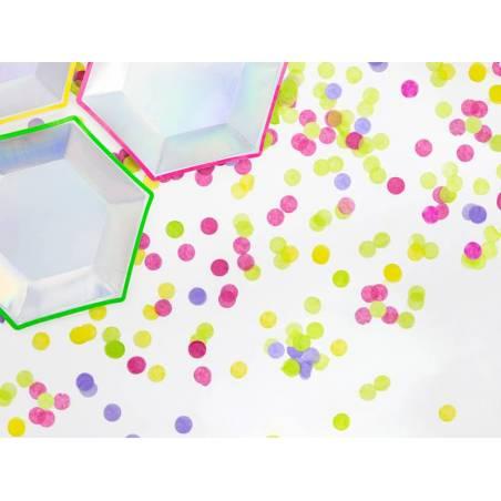 Cercles confettis rose foncé 15g