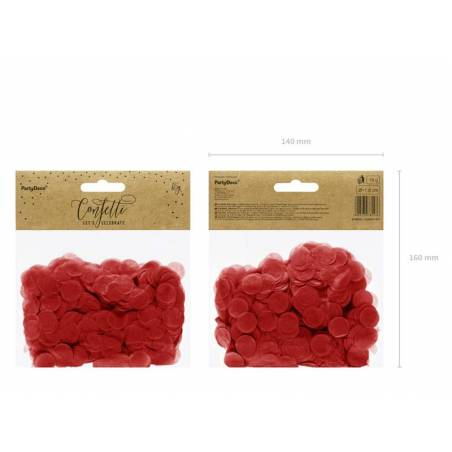 Cercles Confettis rouge 15g