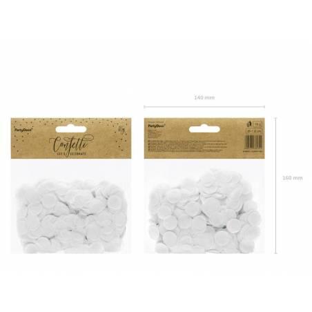 Cercles de confettis blancs 15g
