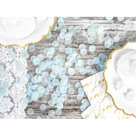 Cercles confettis bleu ciel 15g