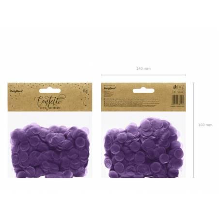 Cercles Confettis violet 15g