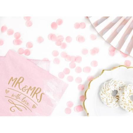 Cercles confettis rose pâle 15g