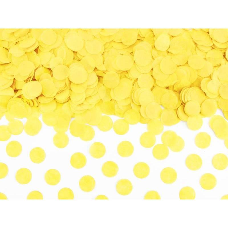 Cercles confettis jaune 15g