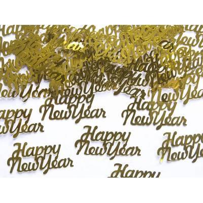 Confettis Happy New Year or 4 x 2cm 3g
