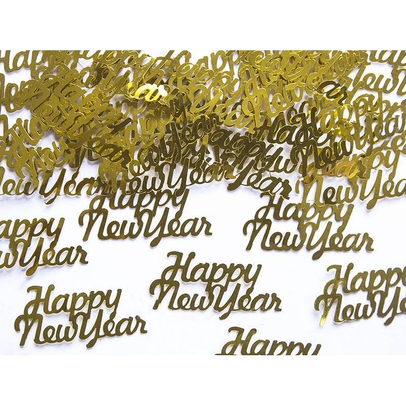 Confettis Happy New Year or 4 x 2cm 3g