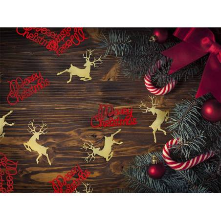 Confetti Rudolf or 23 x 36 cm