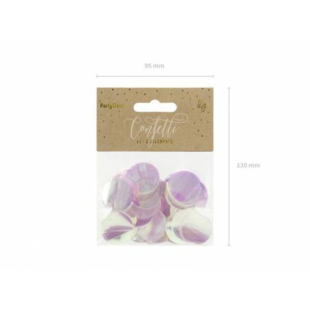 Cercles Confettis irisés 15g