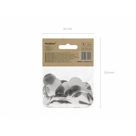 Cercles Confettis argent 15g
